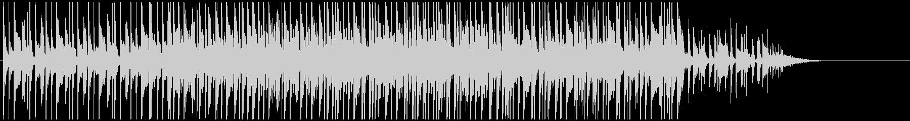 おしゃれジングル ポップジャズで未来的の未再生の波形