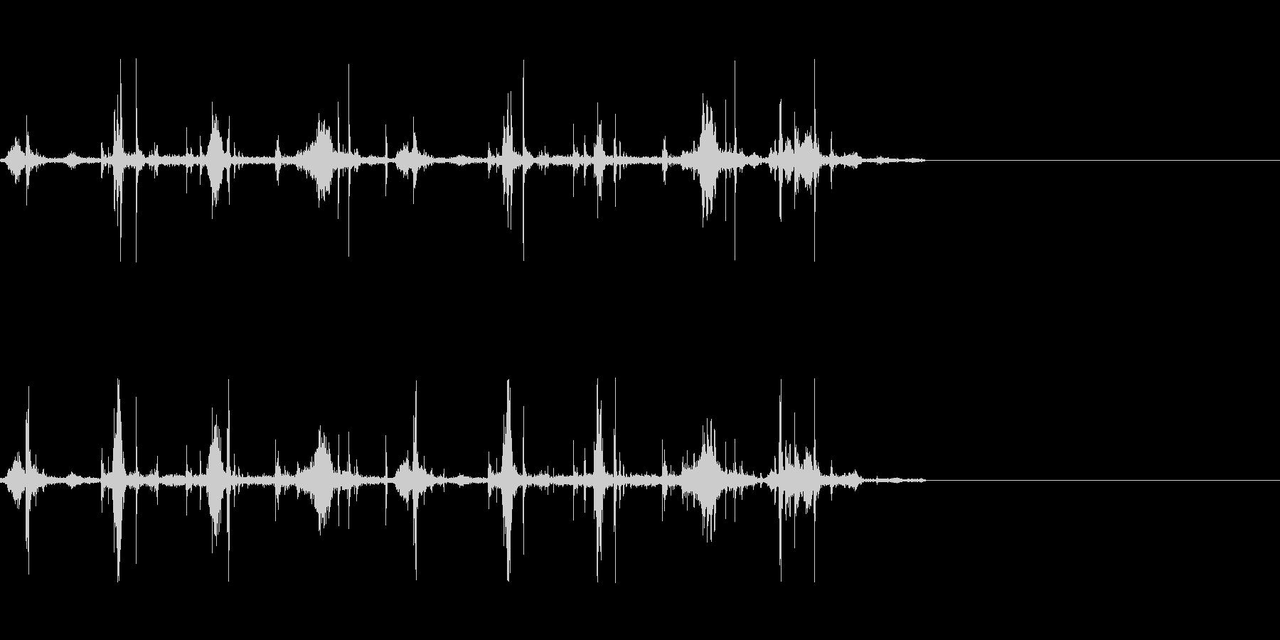 軽く走る音(湿り気のある場所)の未再生の波形
