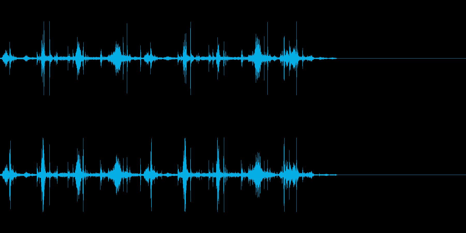 軽く走る音(湿り気のある場所)の再生済みの波形