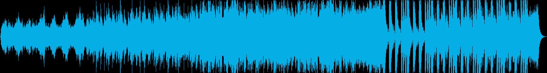 勇ましい曲の再生済みの波形