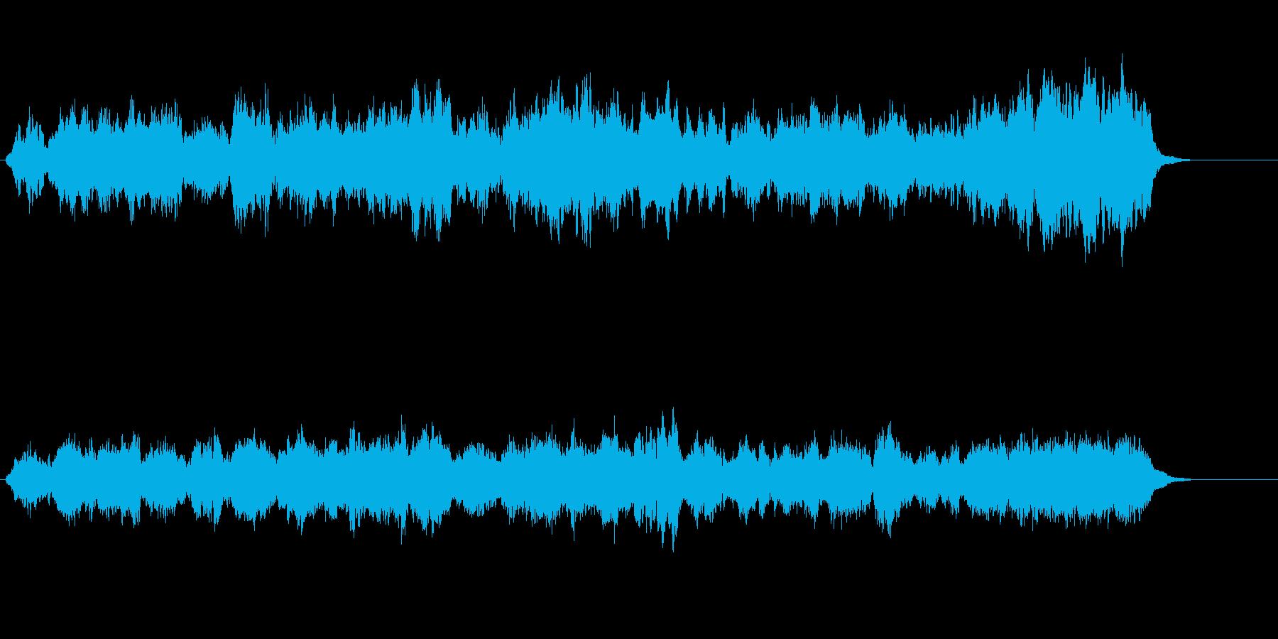 広がりを感じる神秘的なシンセサイザーの…の再生済みの波形