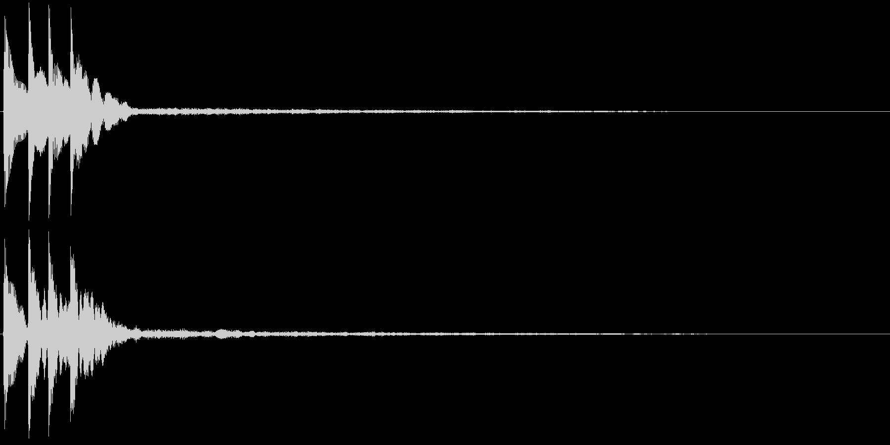 ピロリン(決定音・テロップ・注釈表示)の未再生の波形
