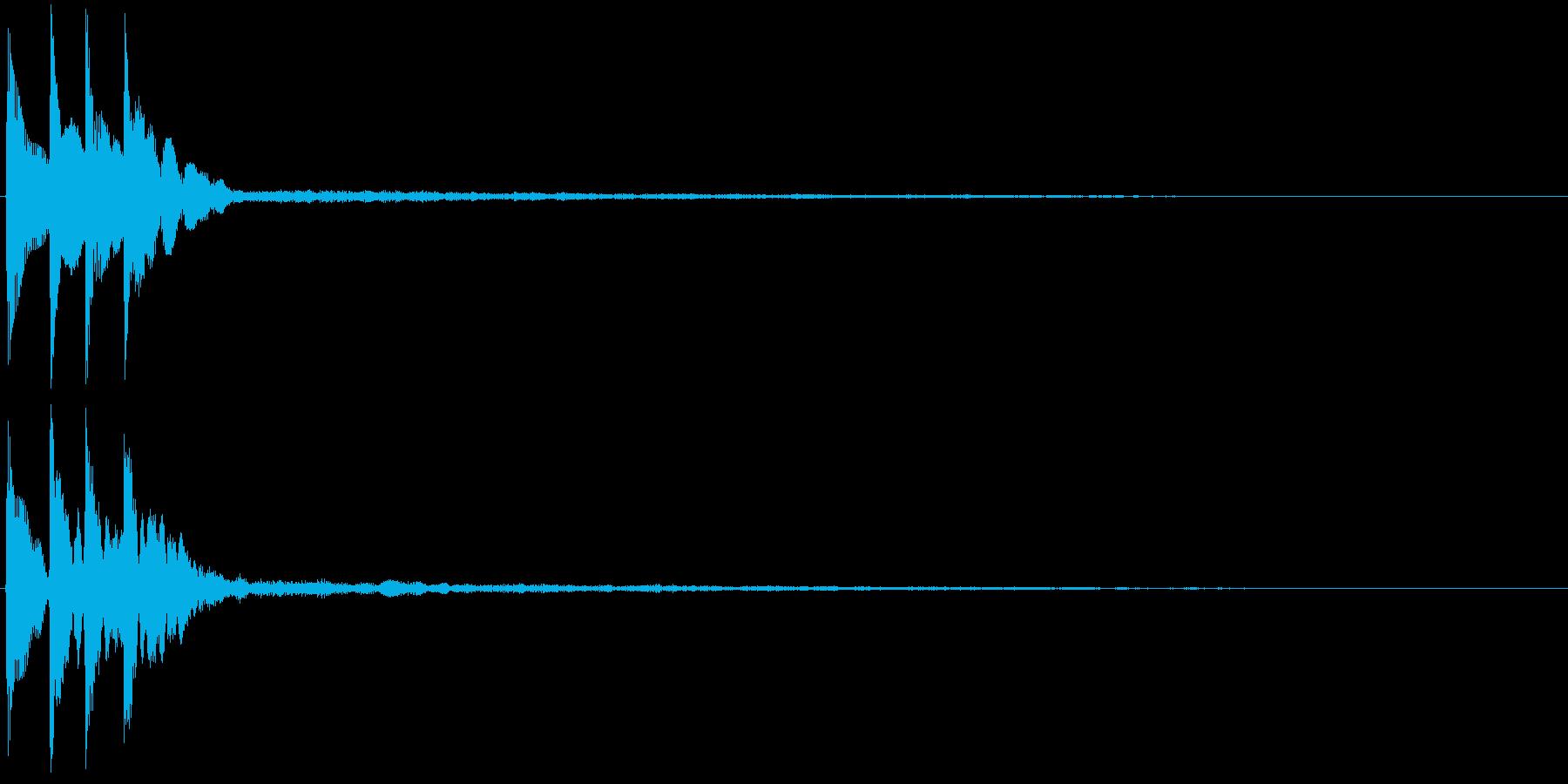 ピロリン(決定音・テロップ・注釈表示)の再生済みの波形