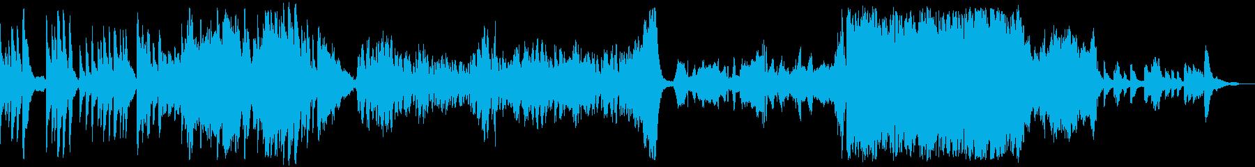 悲しい切ない回想BGMの再生済みの波形