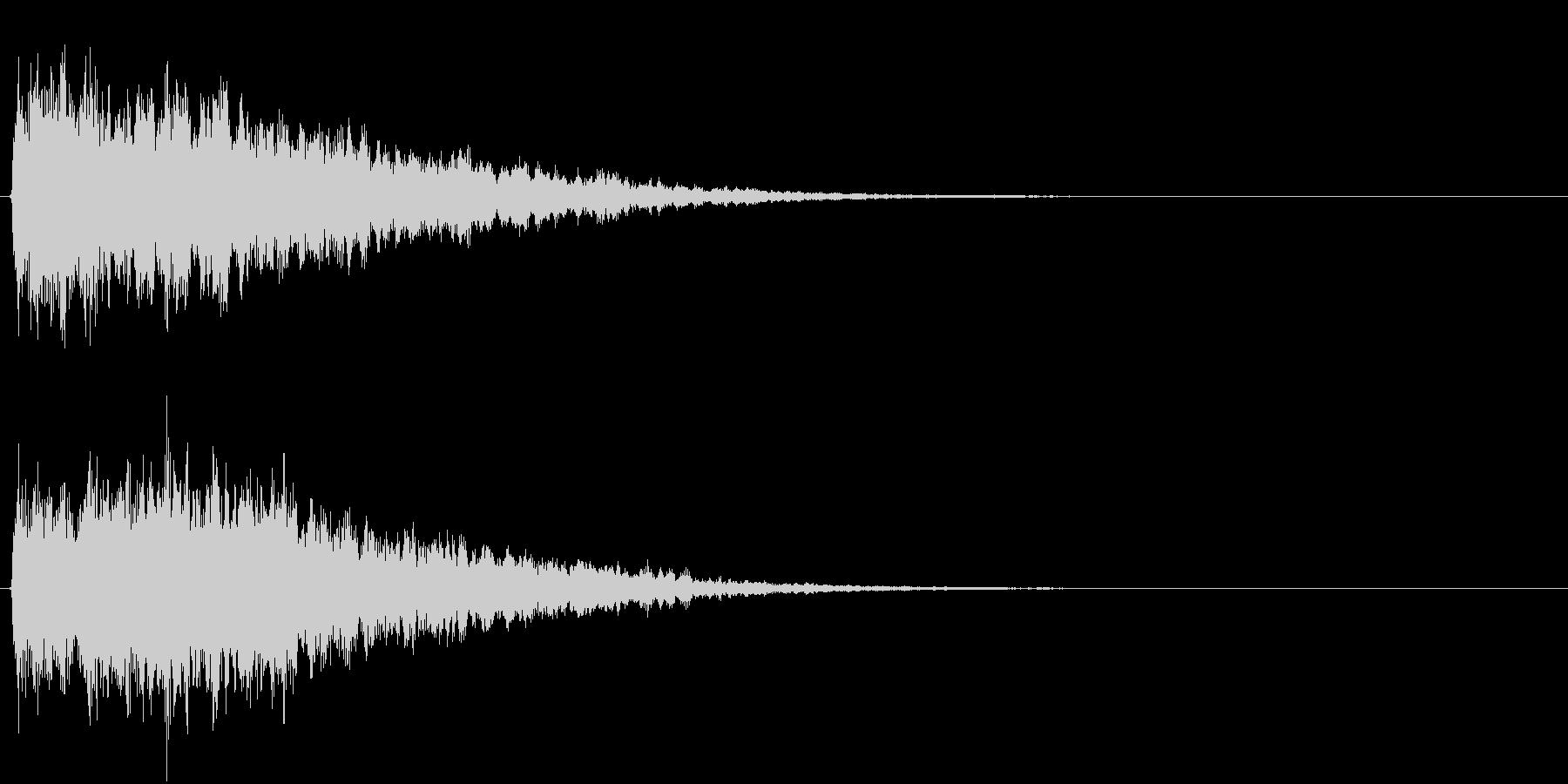アイキャッチ(硬質・派手)1の未再生の波形