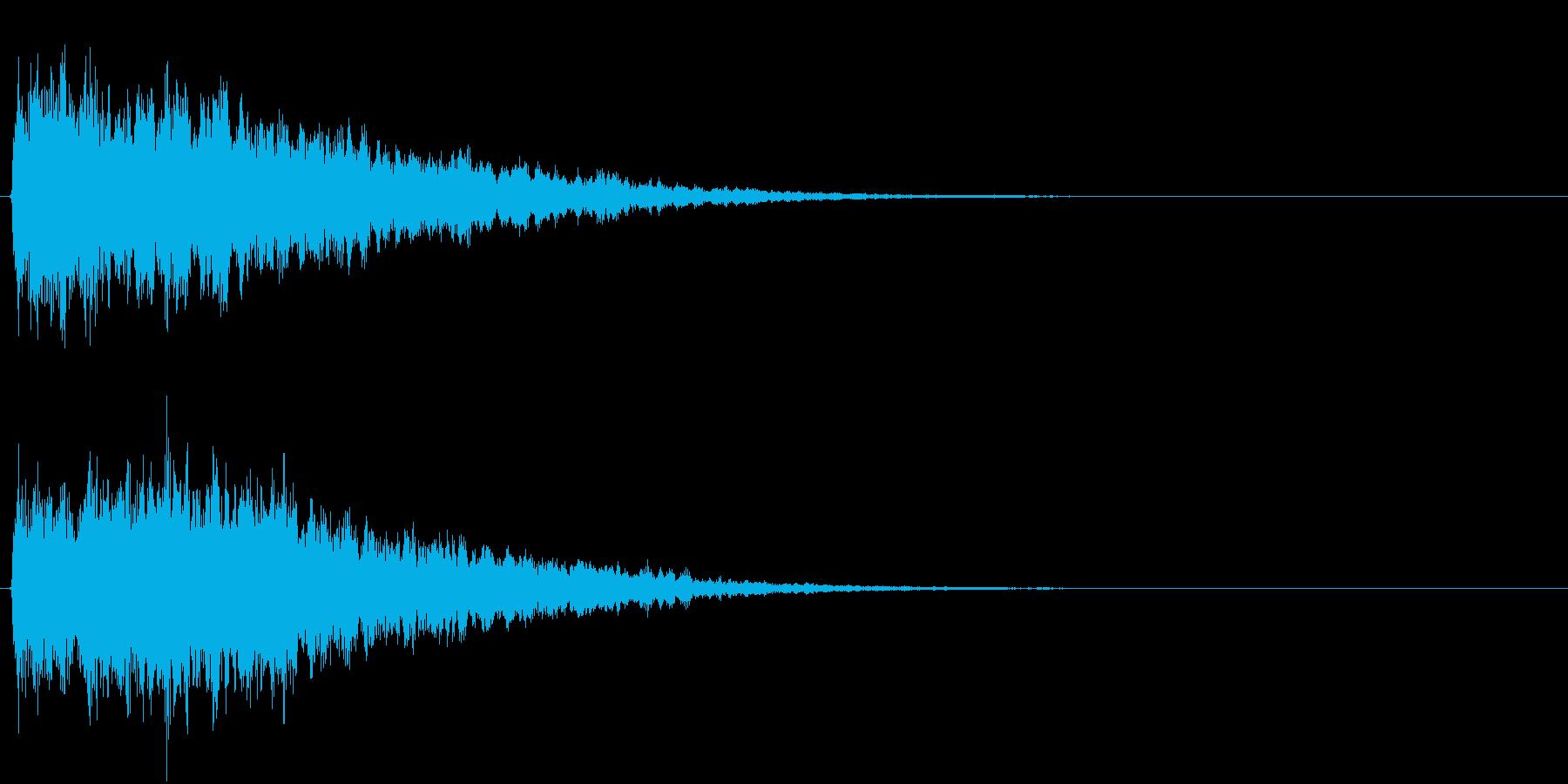 アイキャッチ(硬質・派手)1の再生済みの波形