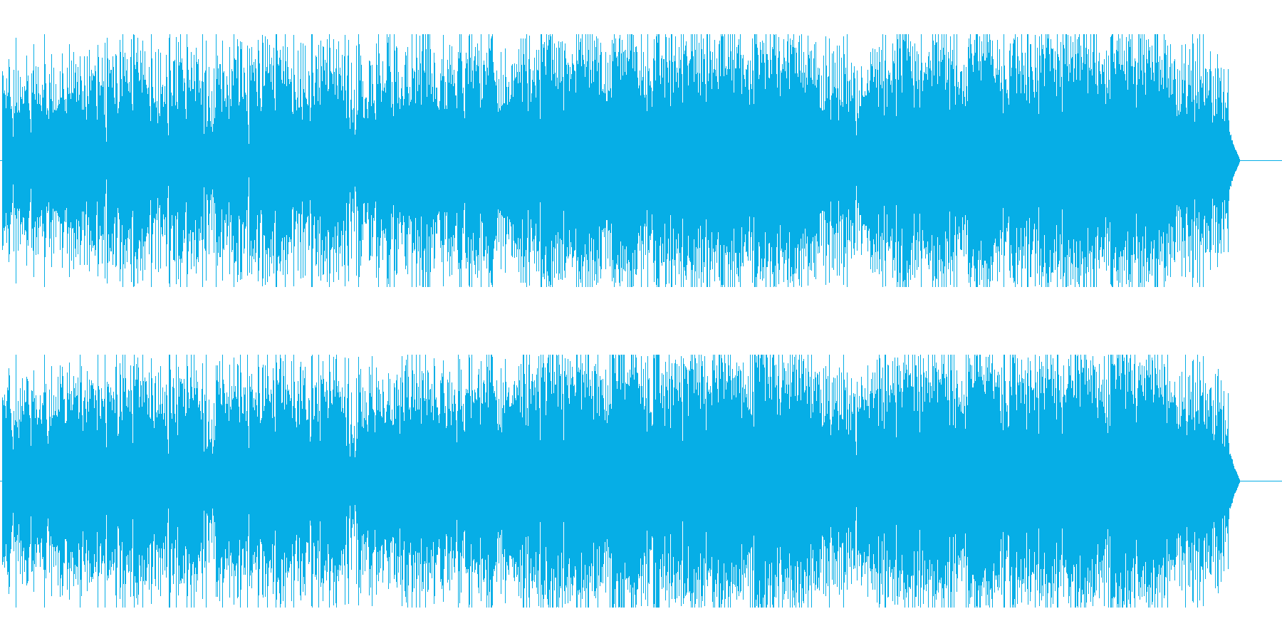 ゆったり昼下がりを表現したテクノポップの再生済みの波形