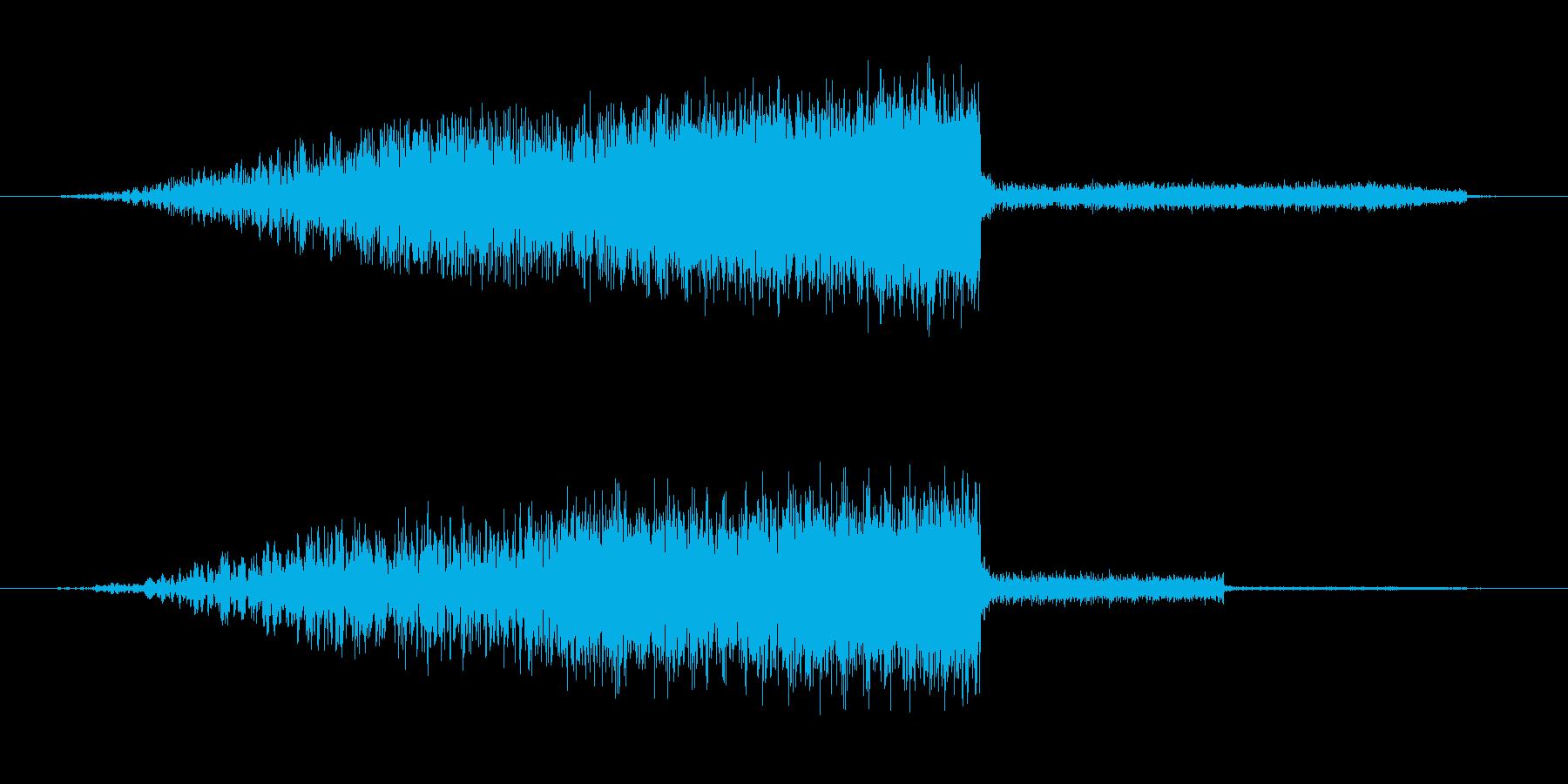 パワーアップ・レベルアップ(ギューン)の再生済みの波形
