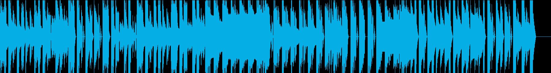 チップチューンのコミカルなオープニング曲の再生済みの波形