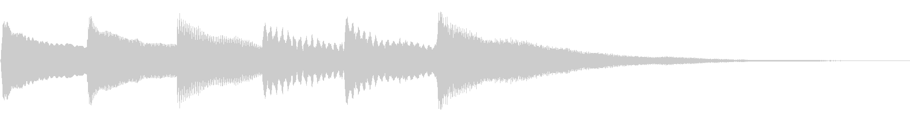 チャイム、通知音の未再生の波形