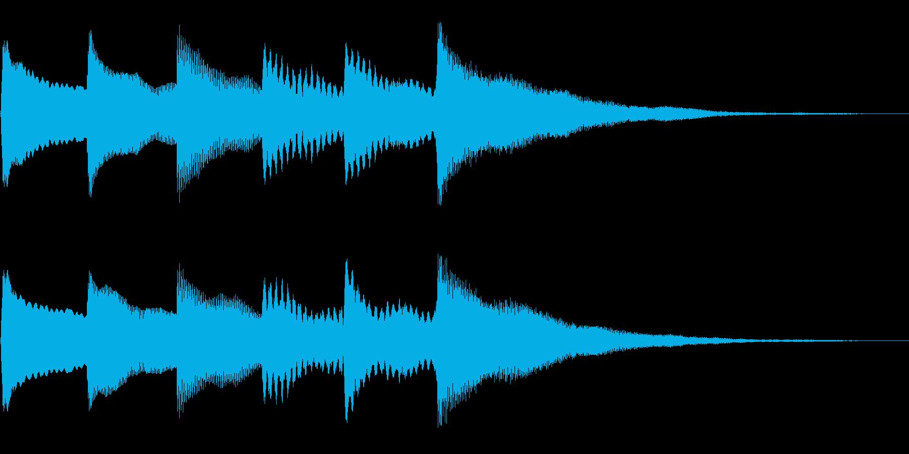 チャイム、通知音の再生済みの波形