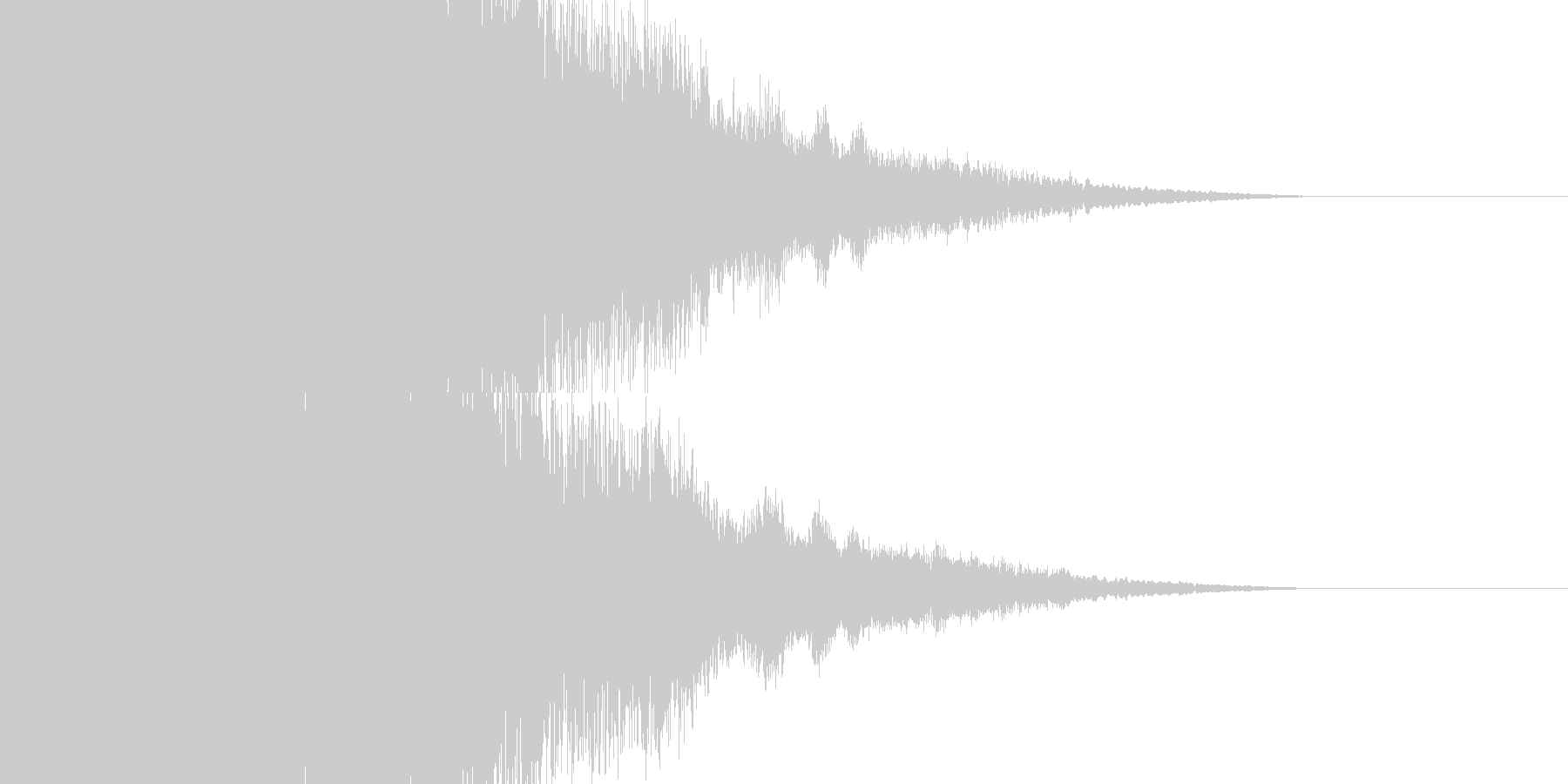 パチンコの擬似連確定インパクト音の未再生の波形