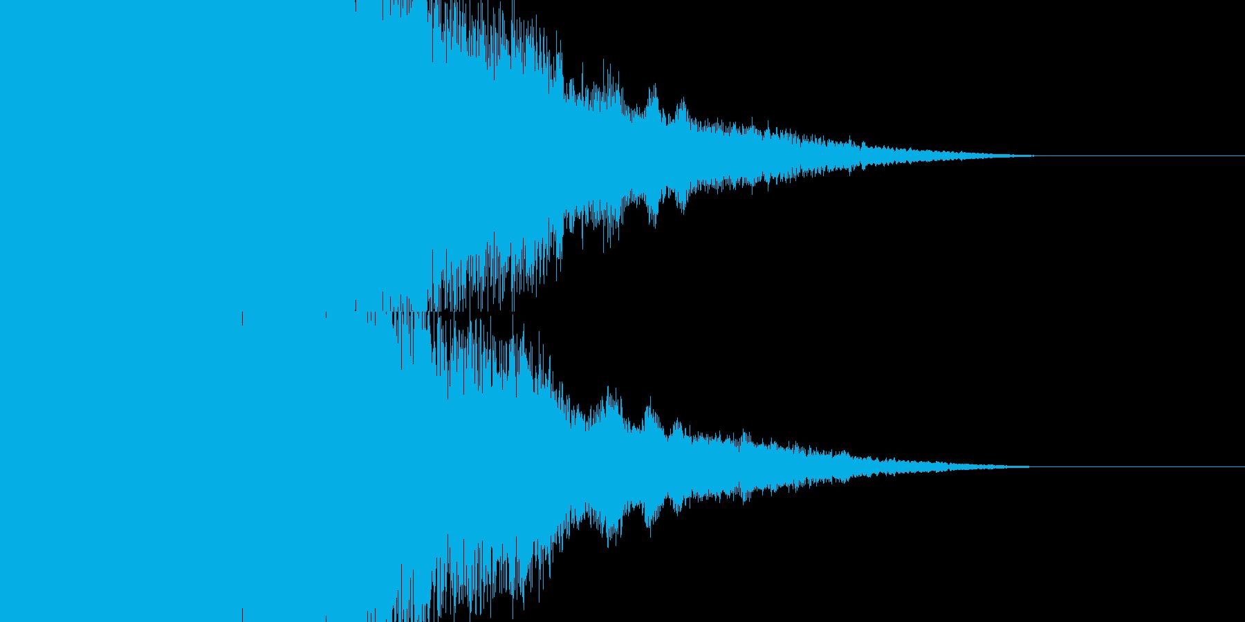 パチンコの擬似連確定インパクト音の再生済みの波形