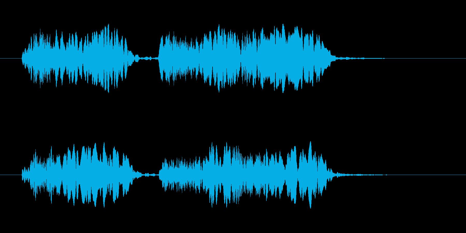 ちゃらりー、ちゃらりらりーらー合唱版の再生済みの波形