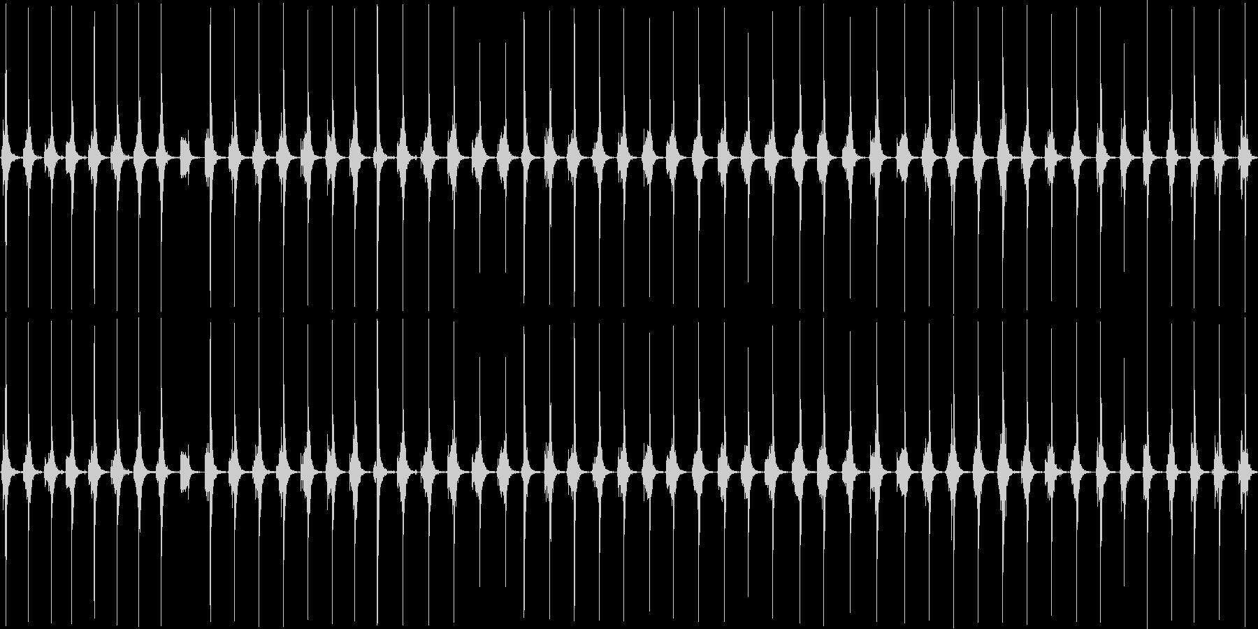 トントントンザクザクザクの未再生の波形