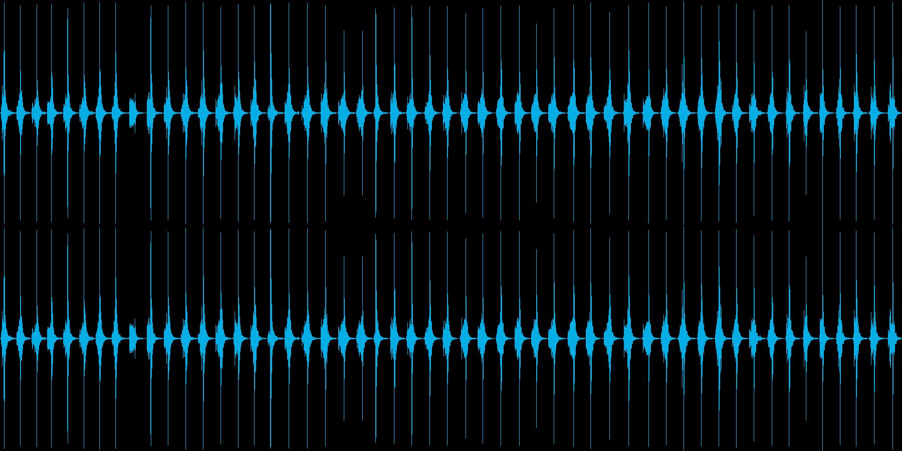 トントントンザクザクザクの再生済みの波形