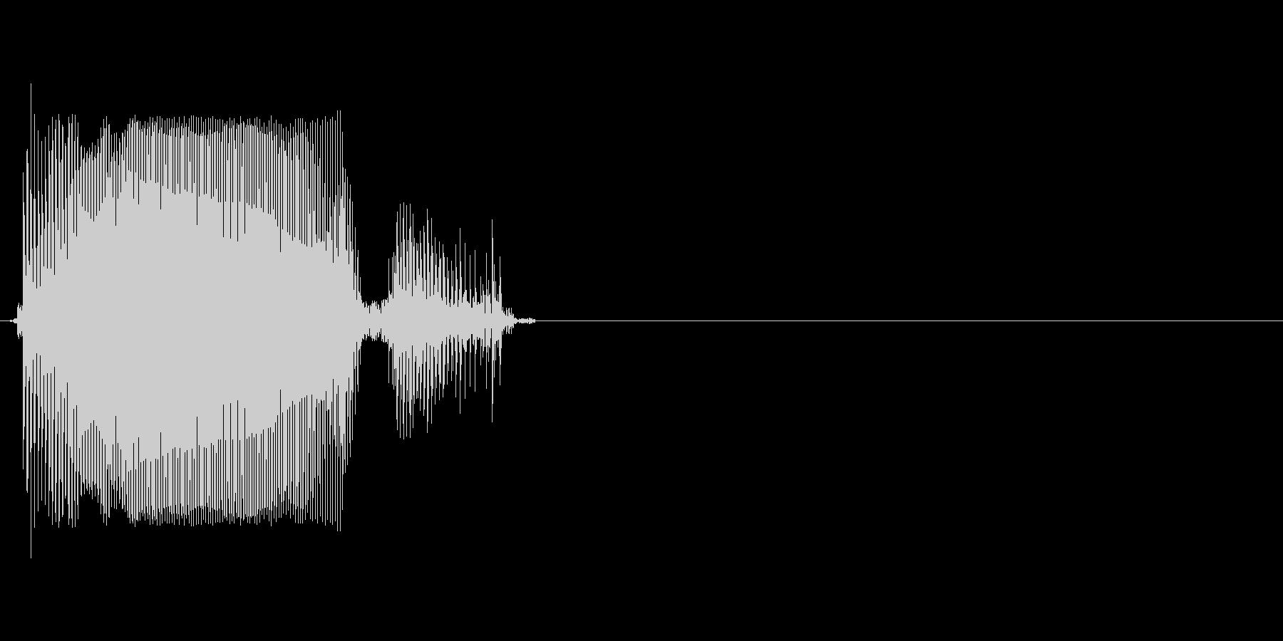 Rの未再生の波形