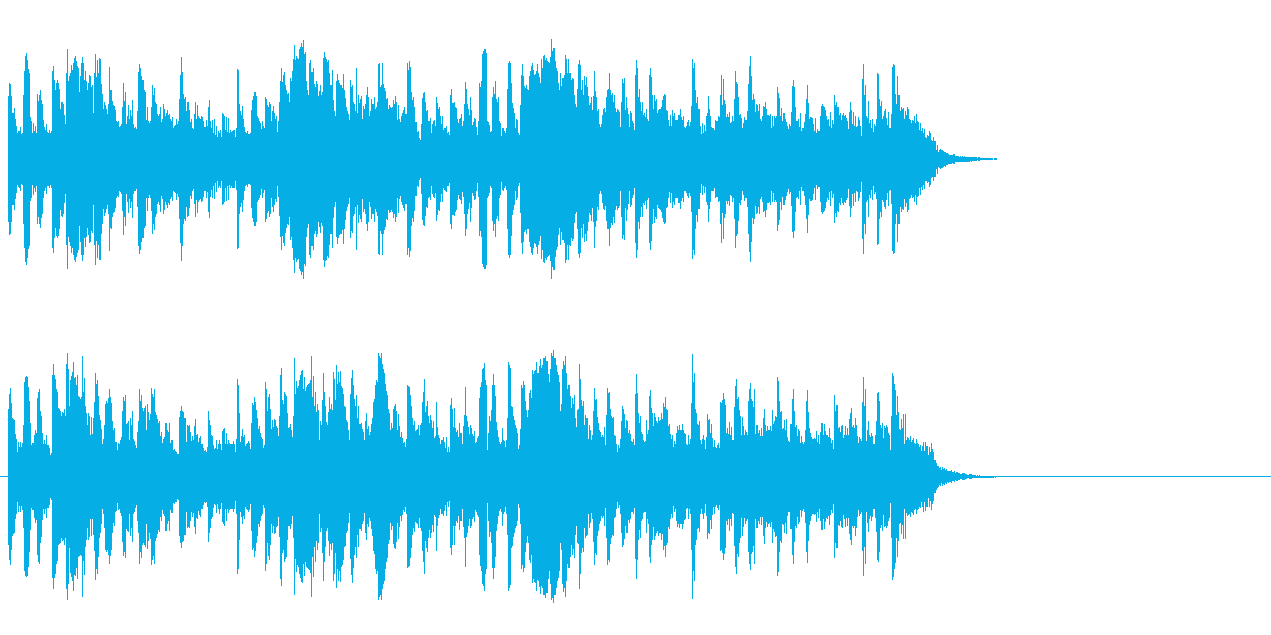 散歩する穏やかなポップス(Aメロ)の再生済みの波形