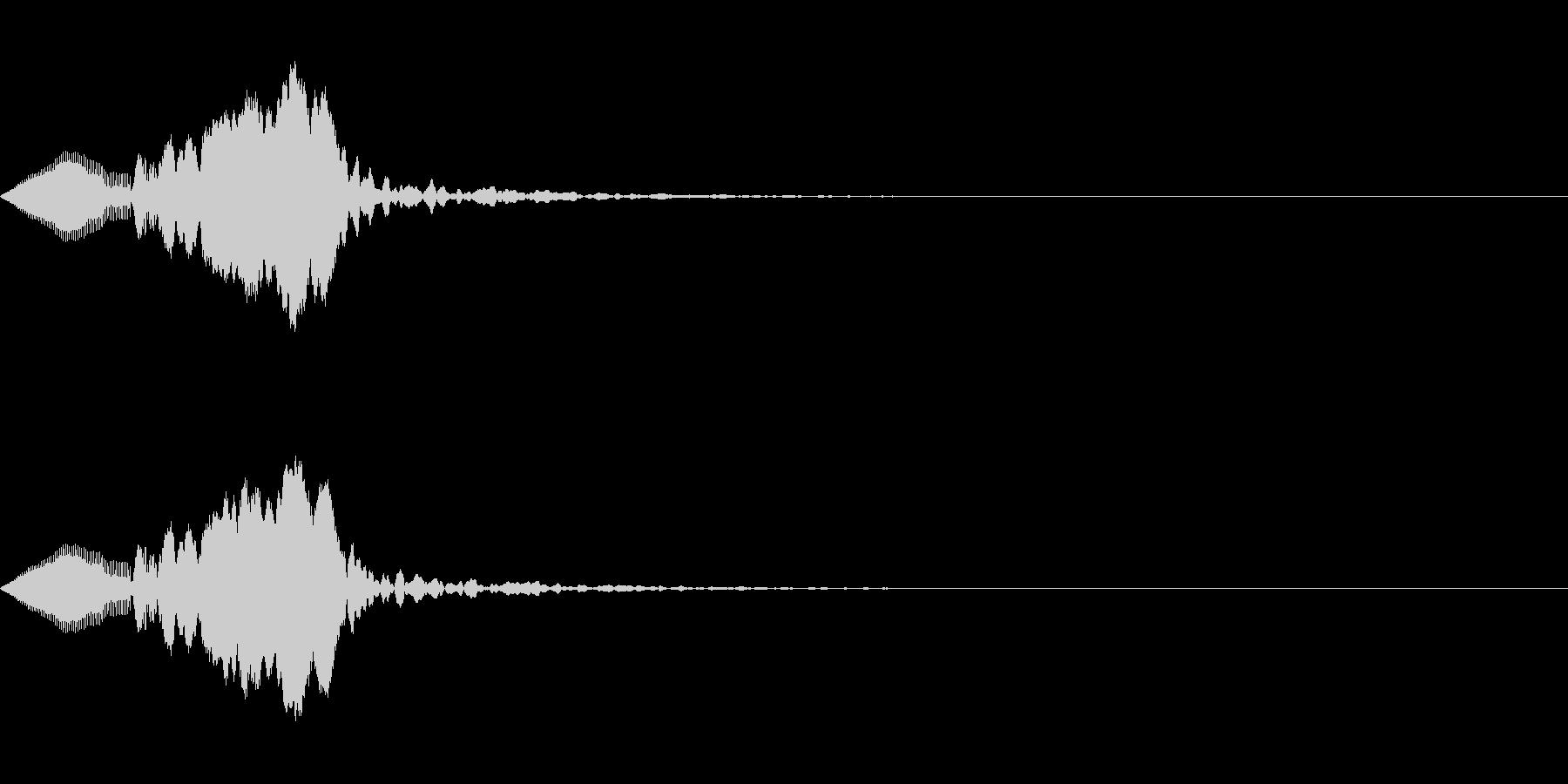 クリック、ボタン、アタック音(ぷわん)の未再生の波形