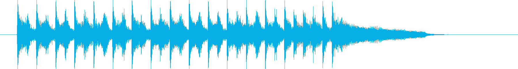 ストリングスが特徴のポップなジングル曲の再生済みの波形
