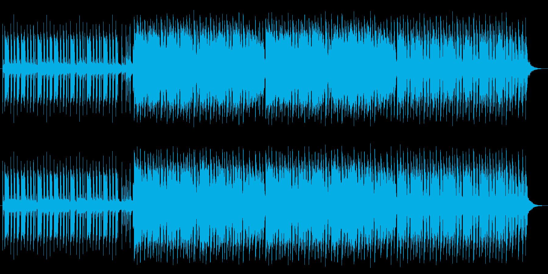 カッティングがファンキーな夏っぽい楽曲の再生済みの波形