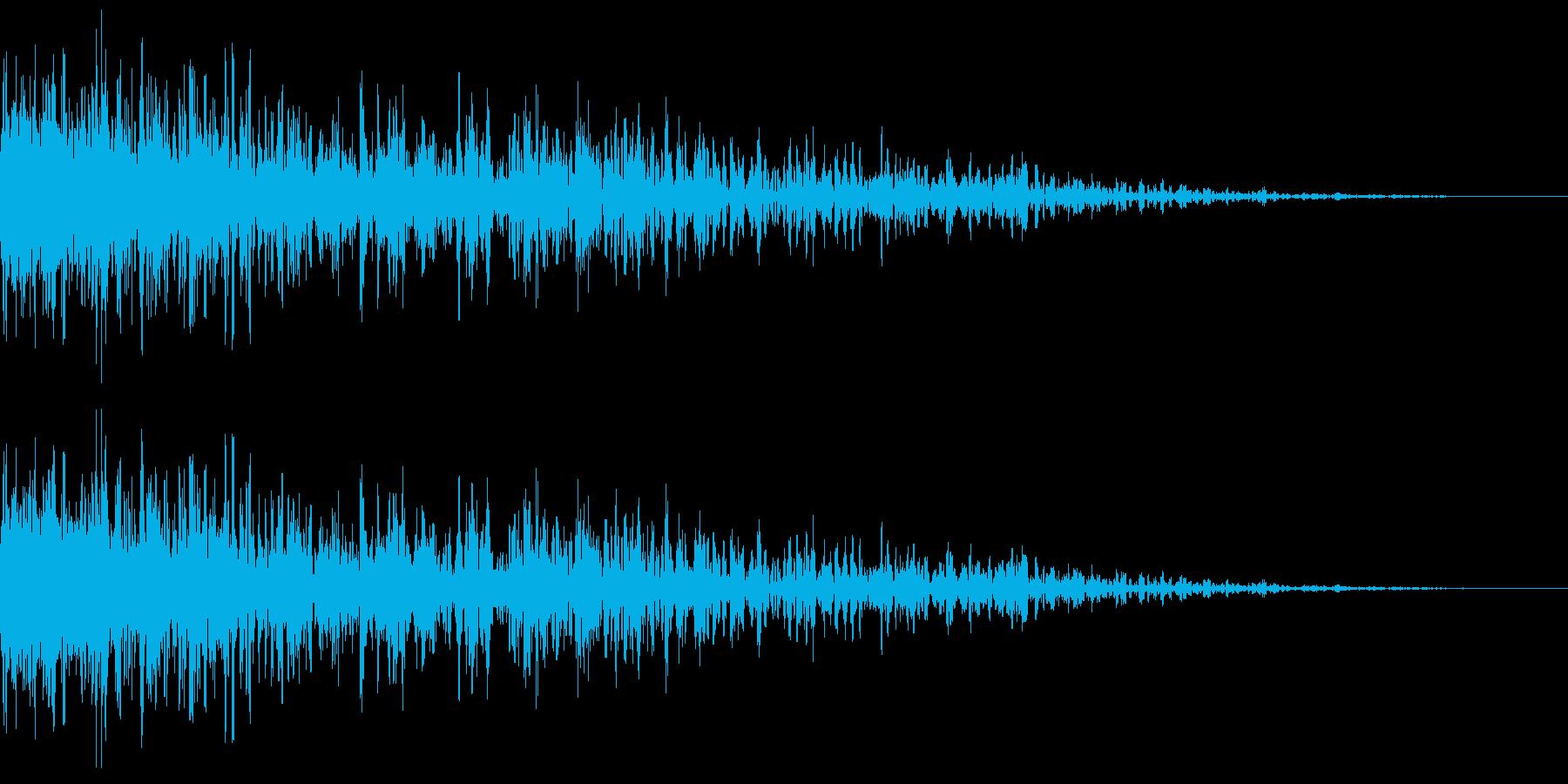 稲光を伴った雷鳴 1B ズゴーンの再生済みの波形