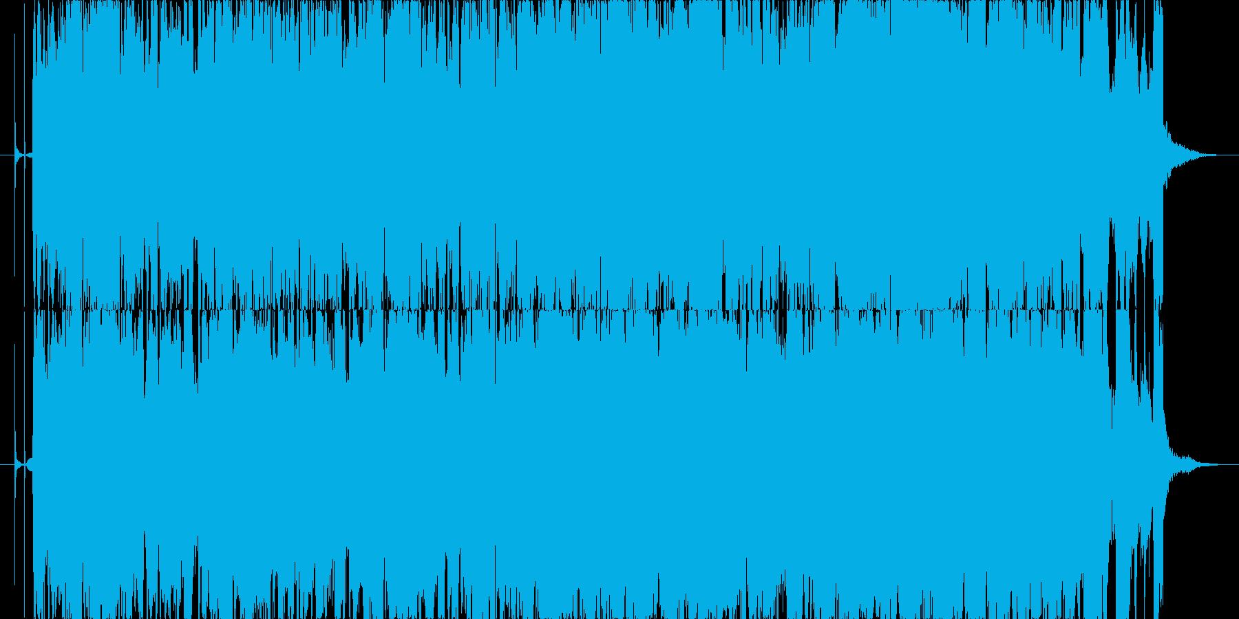 ギターメインのオシャレな曲の再生済みの波形