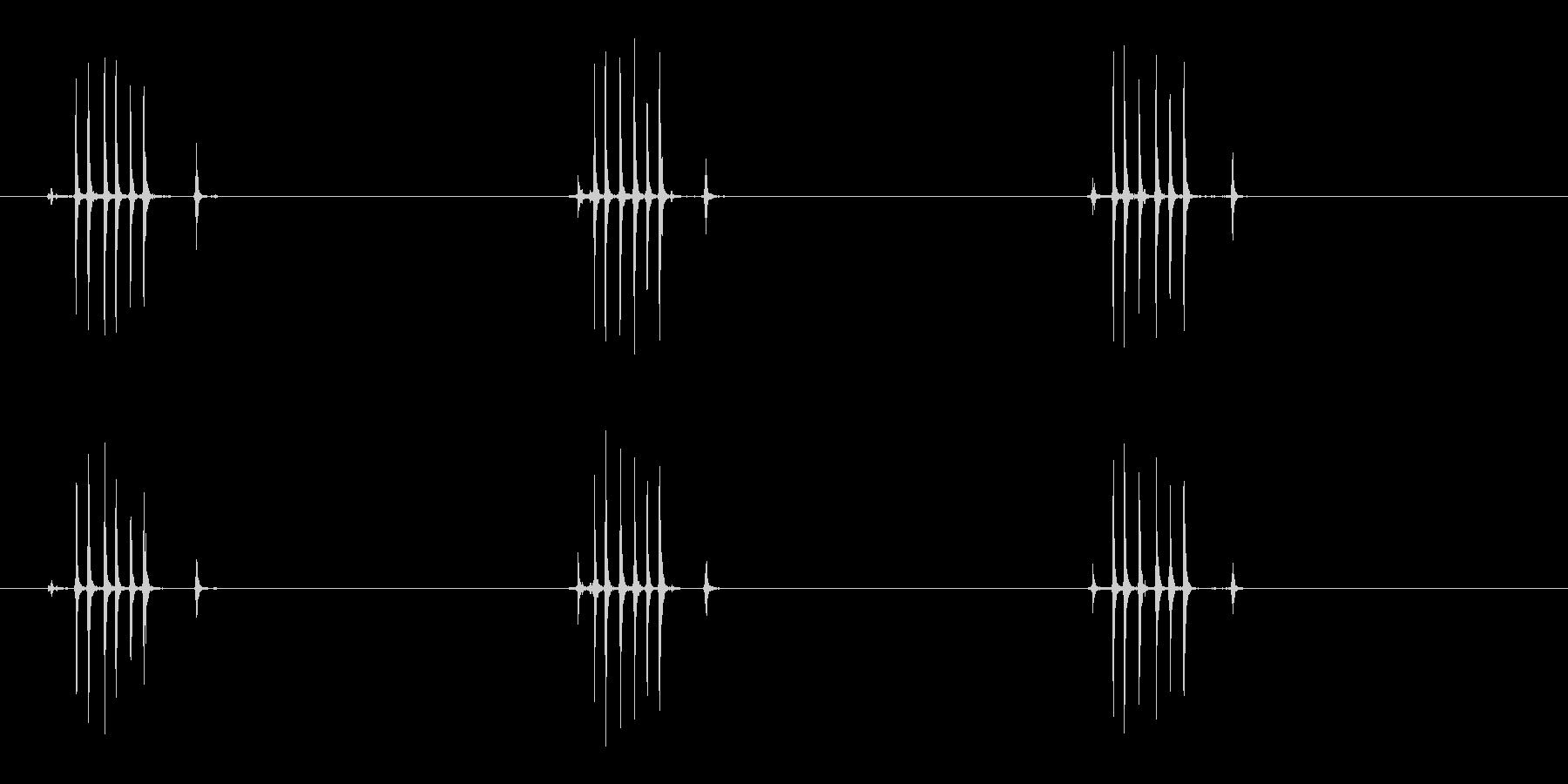 【生録音】ぜんまいを巻く(3回ゆっくり)の未再生の波形