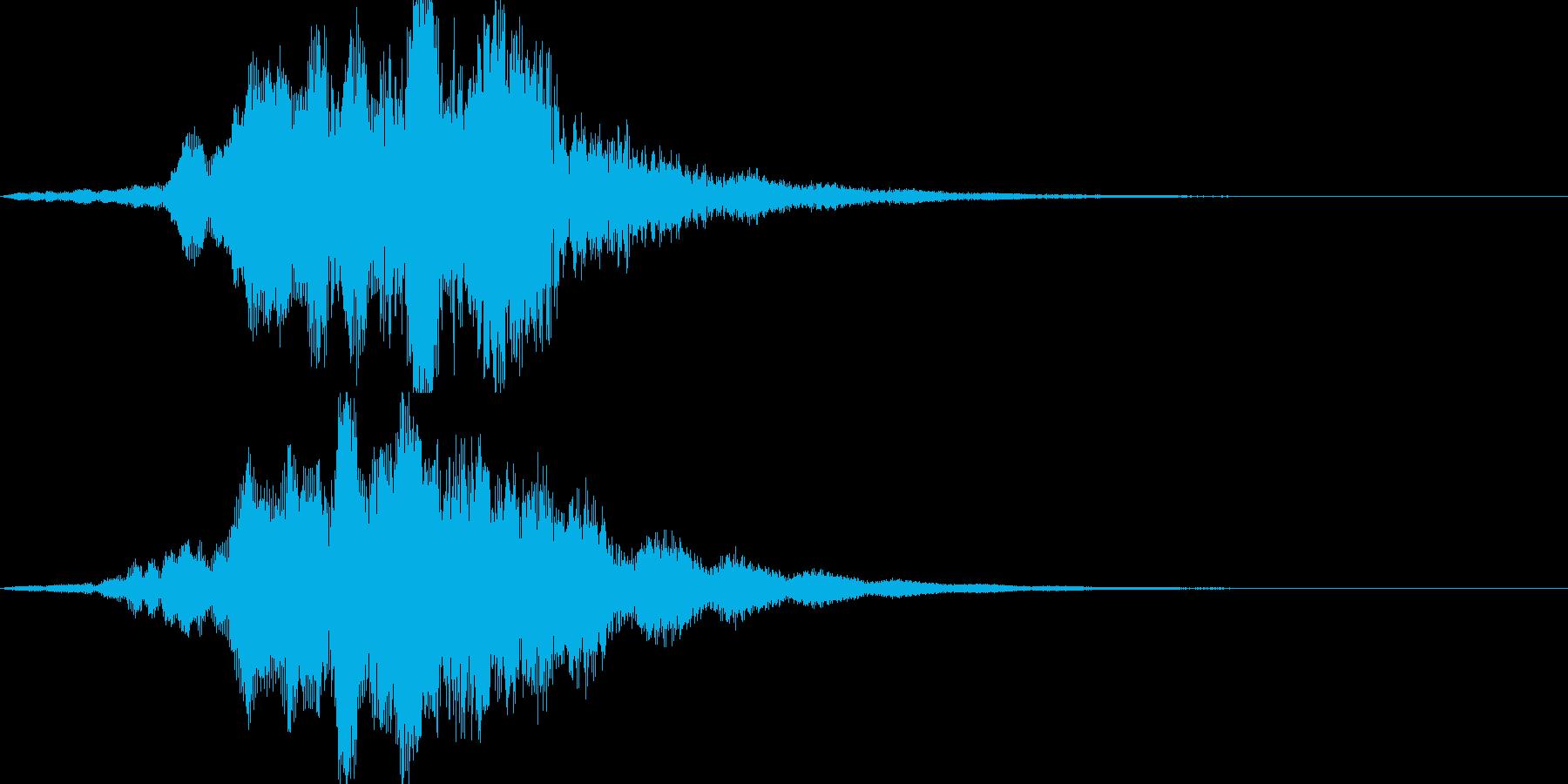 不思議な音02の再生済みの波形