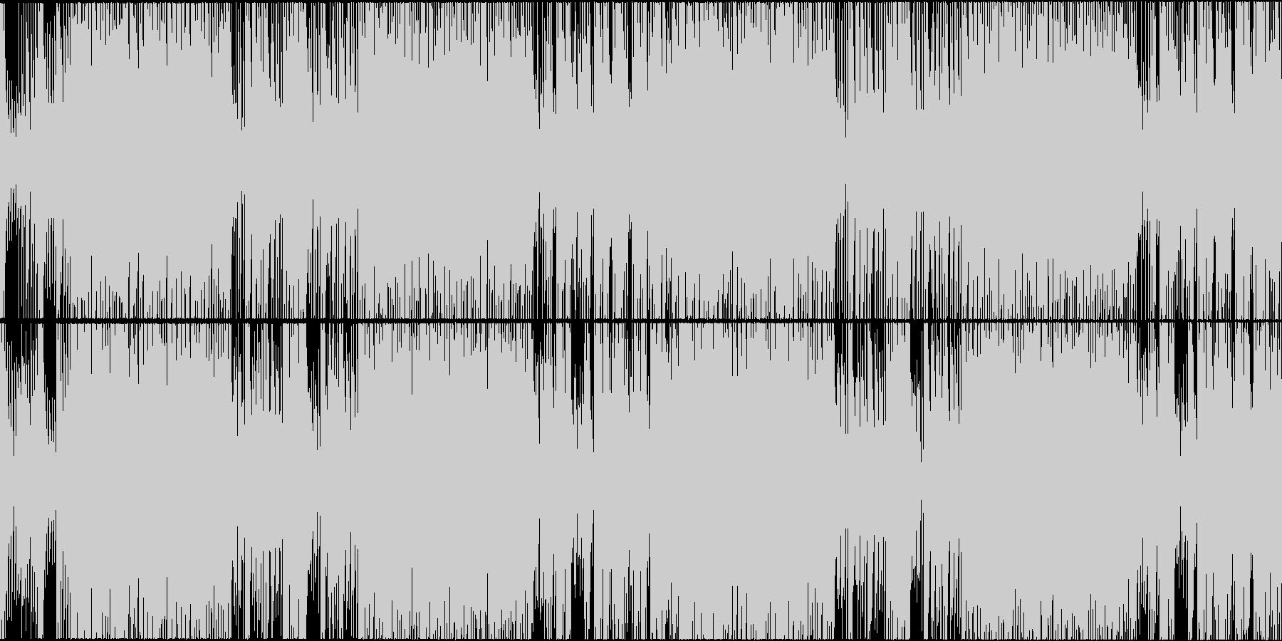情熱的な三味線主体の和風インストループの未再生の波形