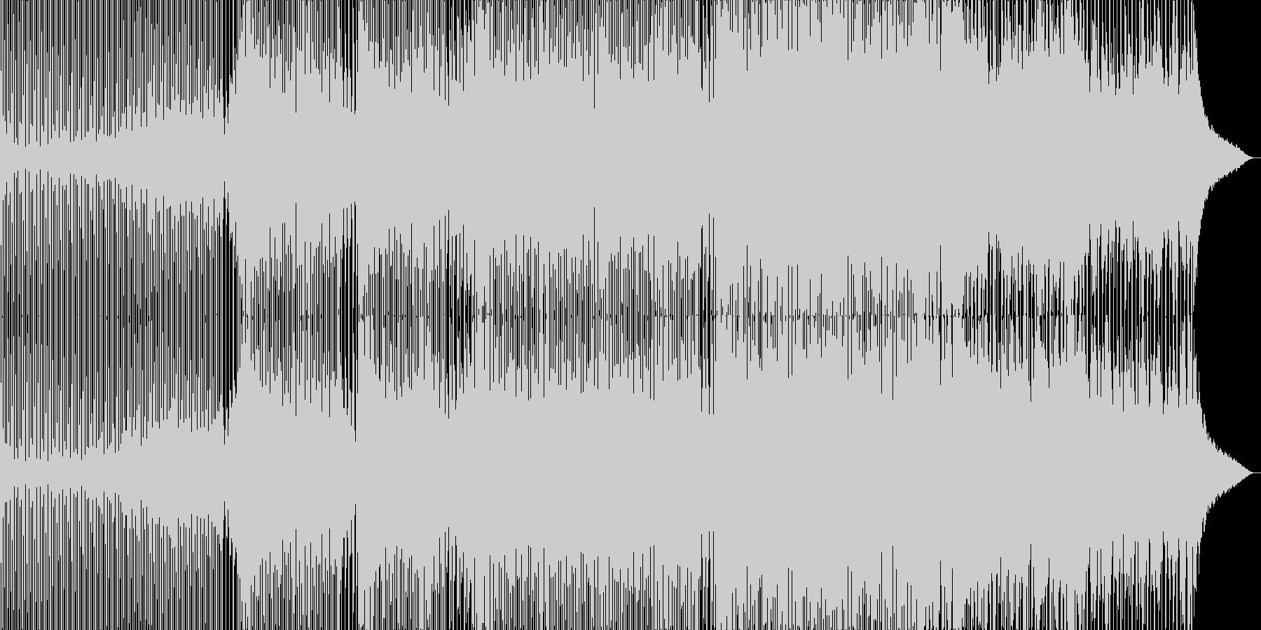 動画向けな軽快で浮遊感のあるトランスの未再生の波形