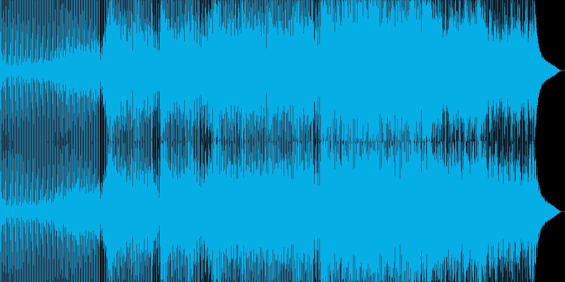 動画向けな軽快で浮遊感のあるトランスの再生済みの波形