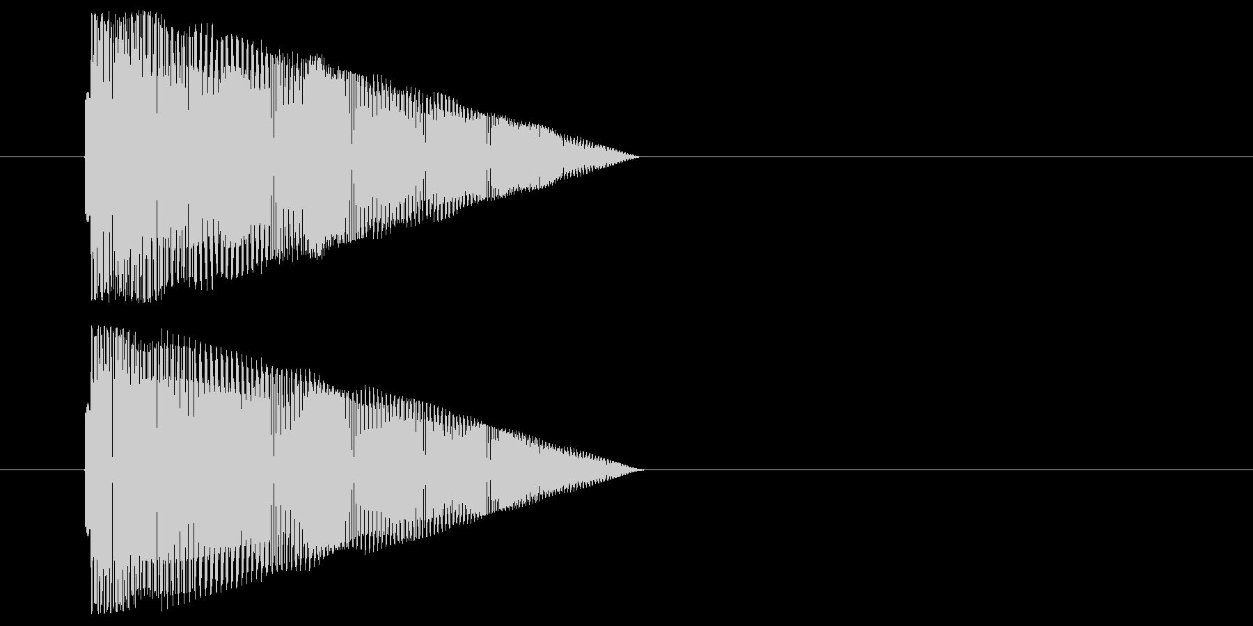 コミカルなジャンプ音の未再生の波形