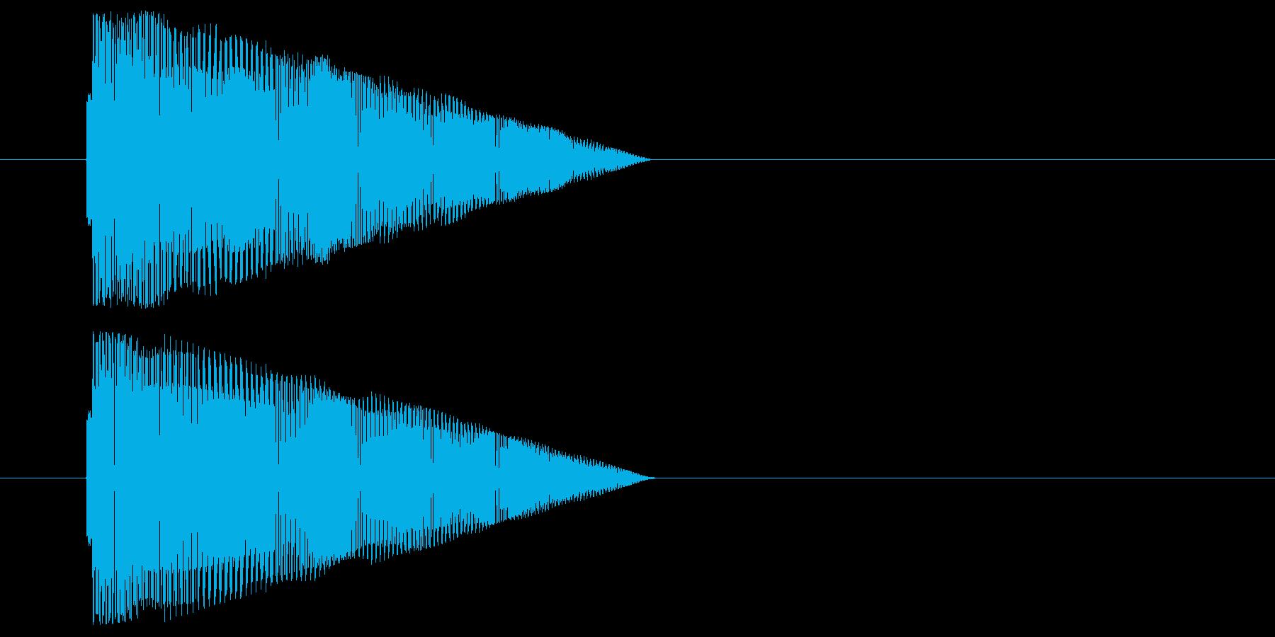 コミカルなジャンプ音の再生済みの波形