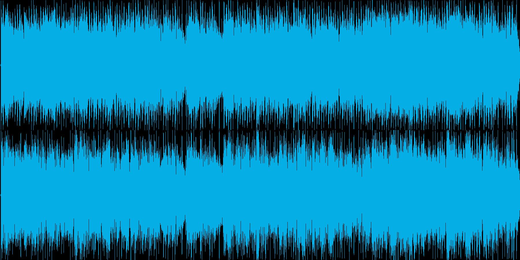 優しいアコースティックギターLOOPの再生済みの波形
