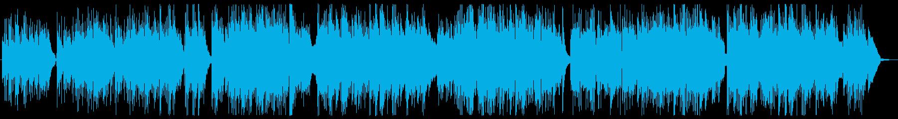 ギターとピアノの静かなバラードの再生済みの波形