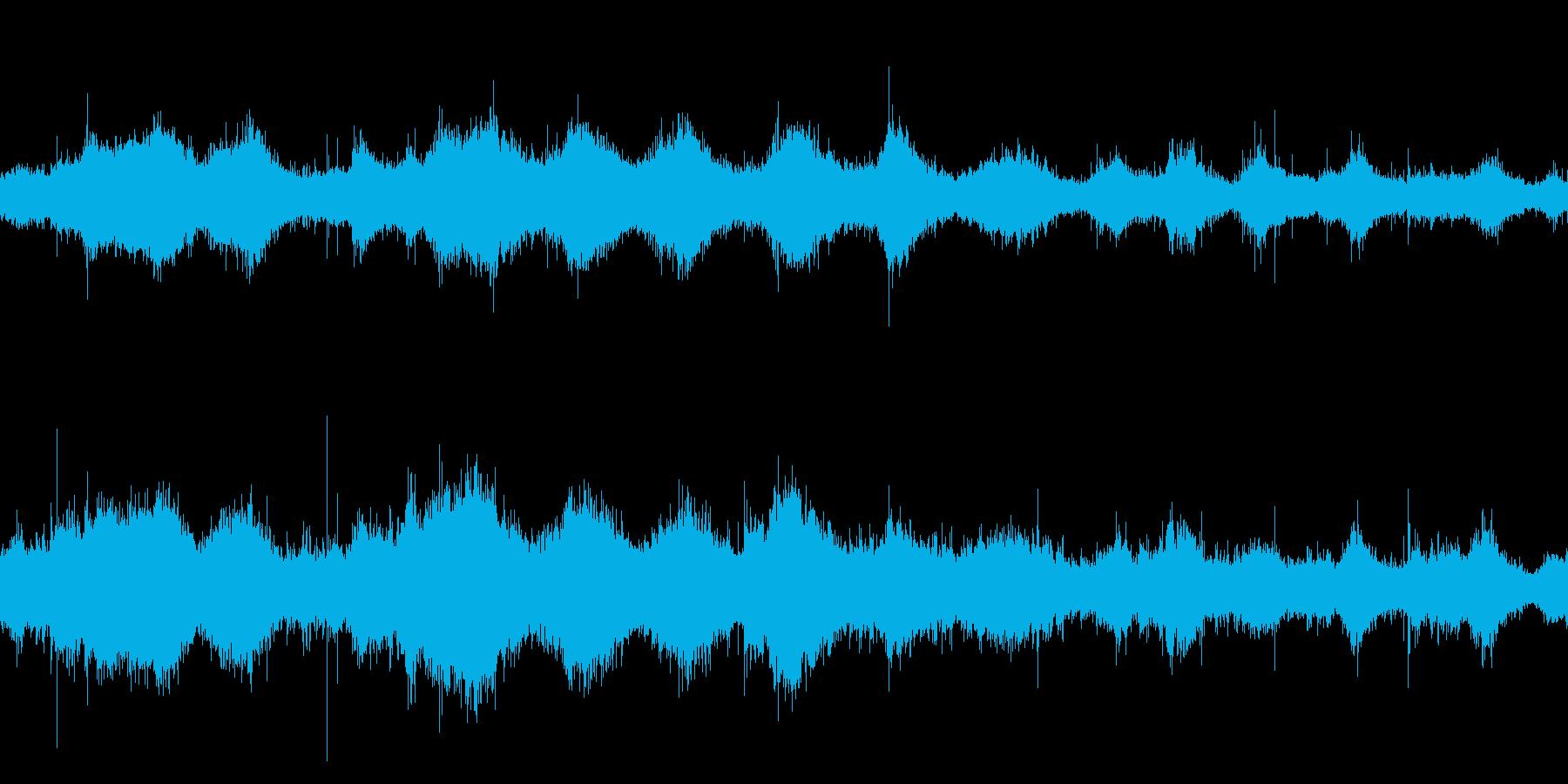 ループ再生用・波音・広いビーチの再生済みの波形