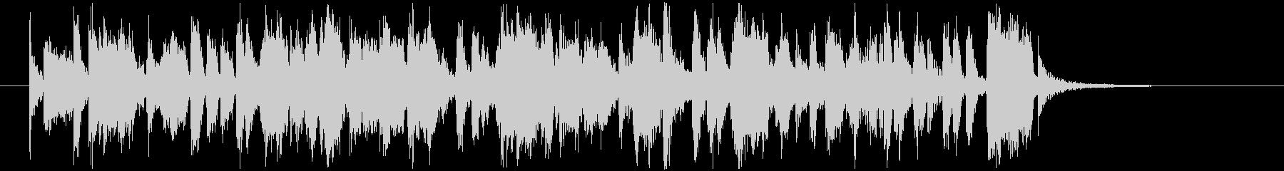 ショパンノクターン第2番のビッグバンド風の未再生の波形