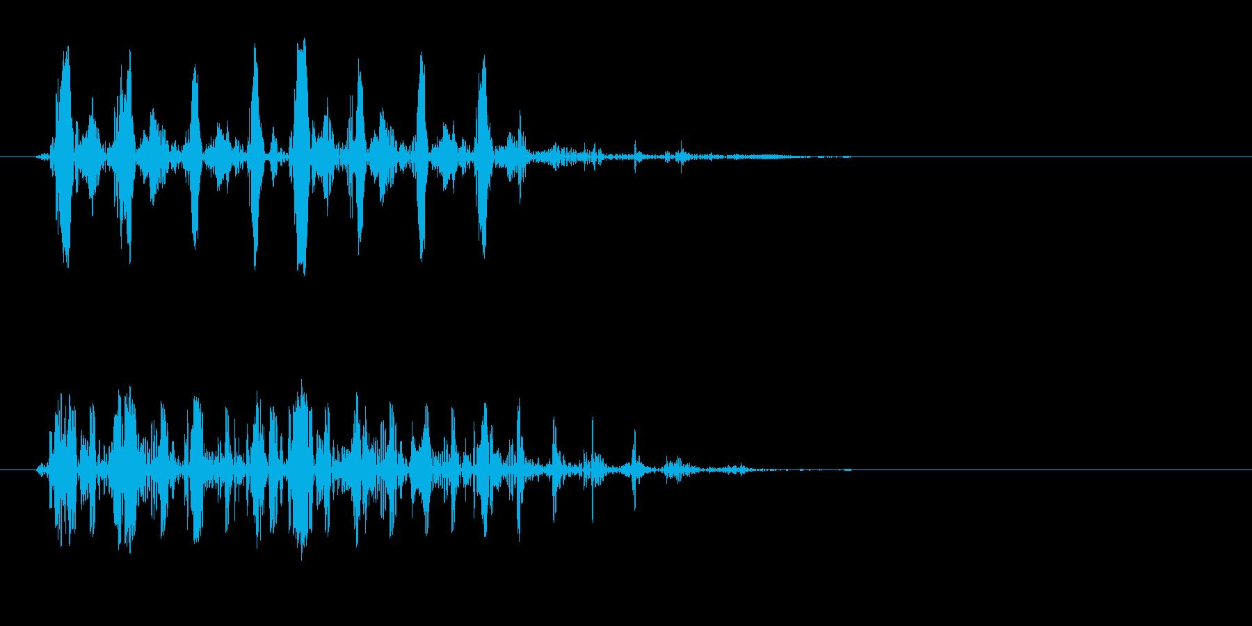 ガコ、ゲロ、バサッ(鳴き声や落下音)の再生済みの波形