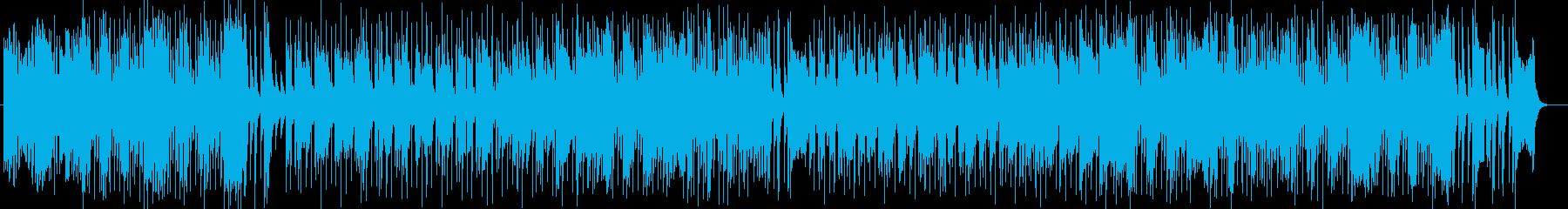 ドラマティックなシンセサイザーギター曲の再生済みの波形