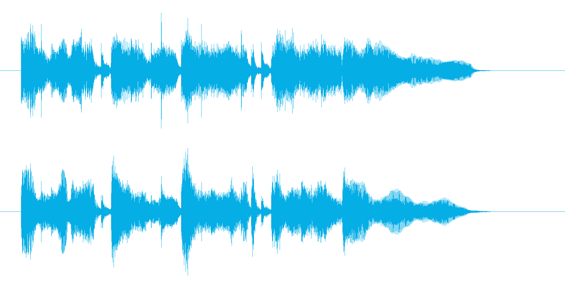 篭った音色の優しいミュージックの再生済みの波形