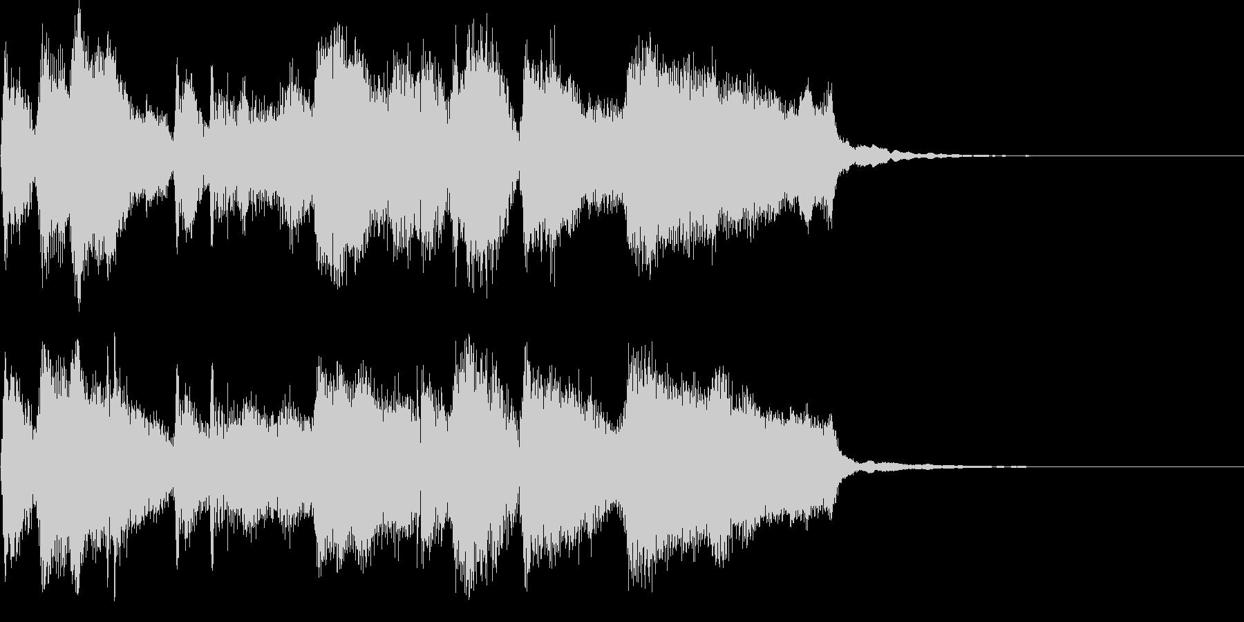 CM ロゴ プレゼン疾走感おもしろジャズの未再生の波形