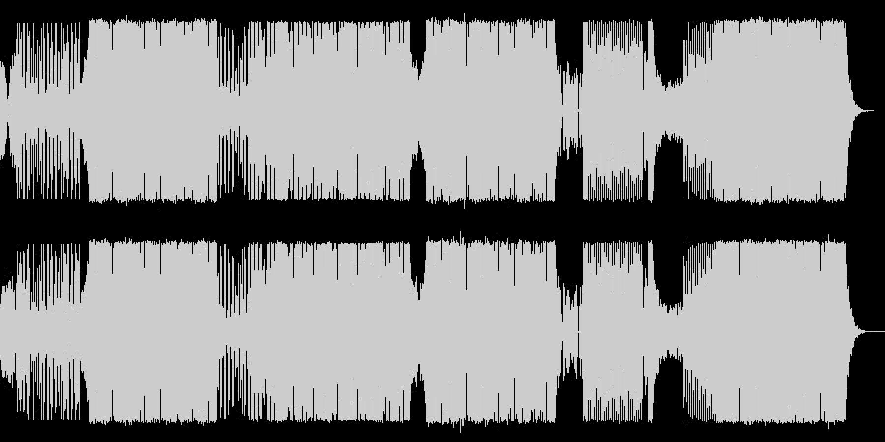 可愛らしいEDMの未再生の波形