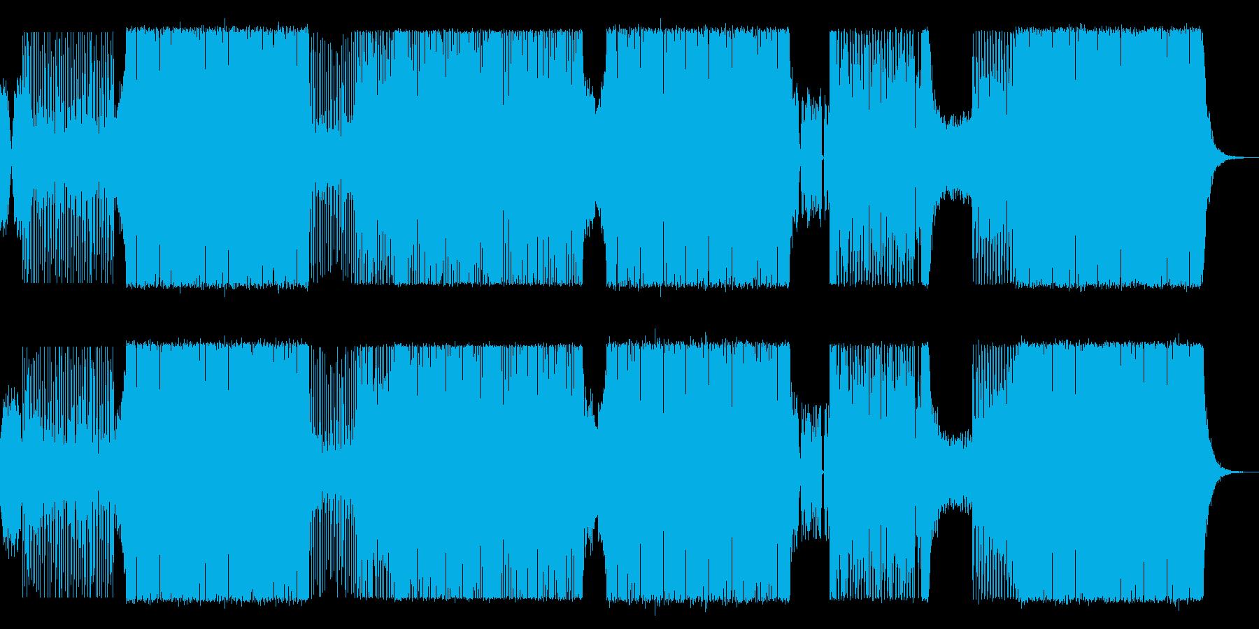 可愛らしいEDMの再生済みの波形