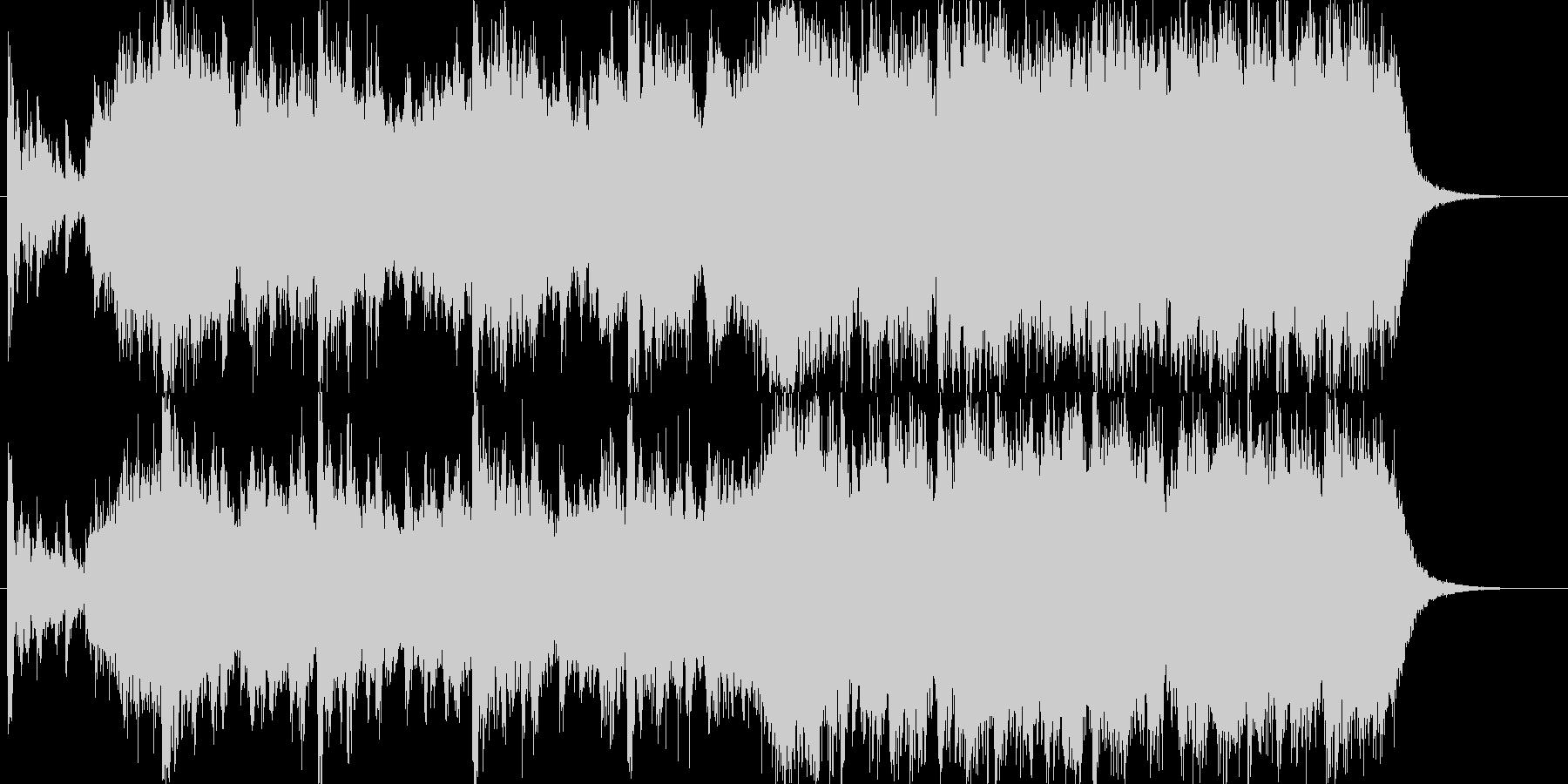 非常に希望的なオーケストラジングル。の未再生の波形