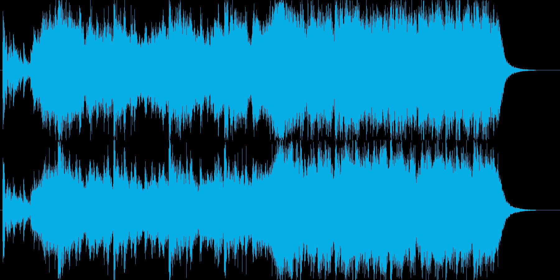 非常に希望的なオーケストラジングル。の再生済みの波形