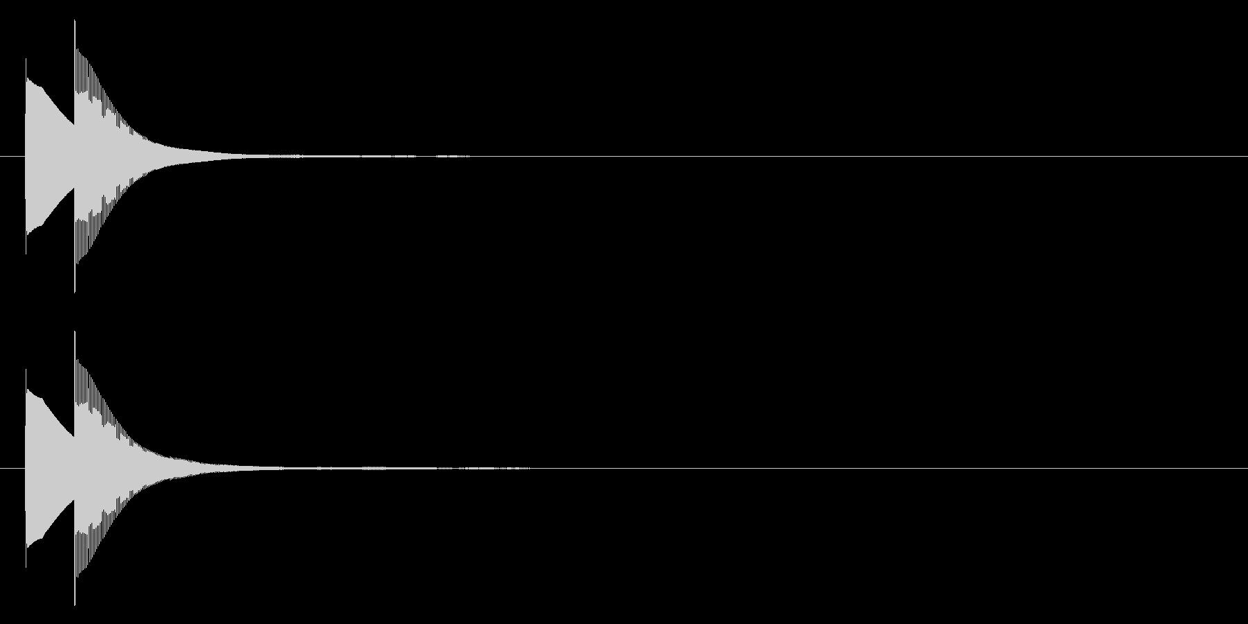 ピンポン(正解)02の未再生の波形