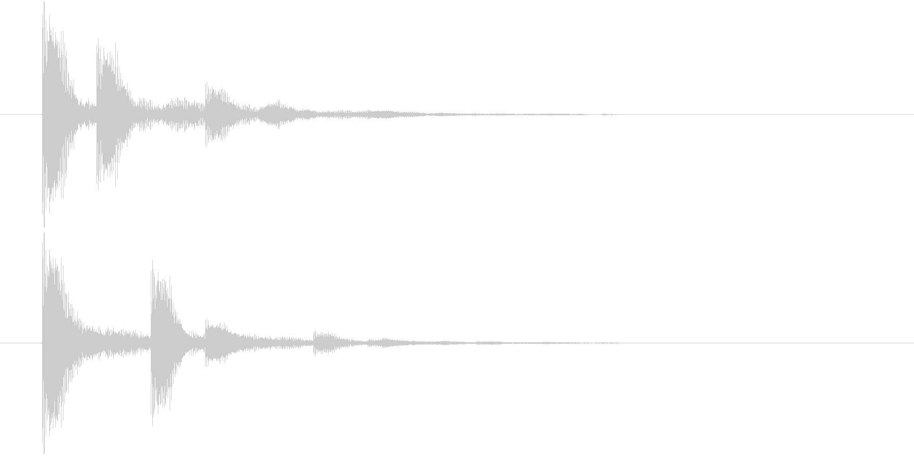 ポインポイン・・・(選択決定音)の未再生の波形