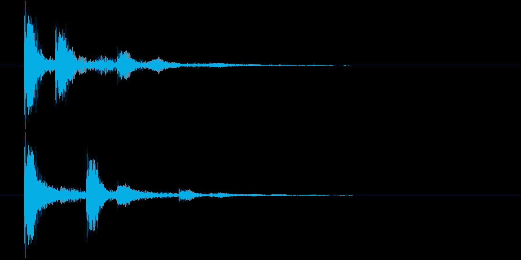 ポインポイン・・・(選択決定音)の再生済みの波形