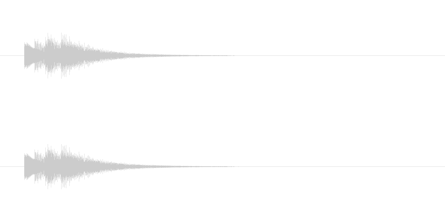 決定音 タッチ音 ベル系音色 音域高めの未再生の波形